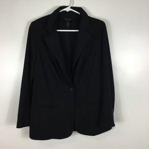 Lane Bryant Black Blazer Jacket Womens Size 14